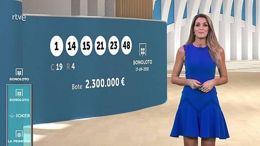 Sorteo de la Bonoloto y Euromillones del 17/09/2021