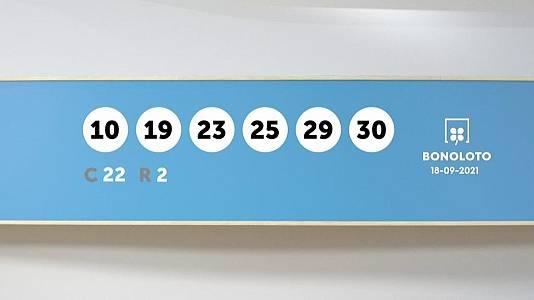 Sorteo de la Lotería Bonoloto del 18/09/2021