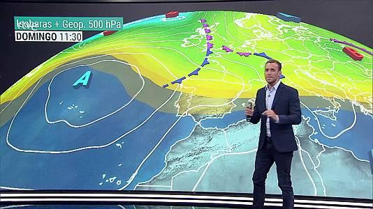 Intervalos nubosos en el norte de Galicia, Cantábrico, cuadrante noreste peninsular y Baleares