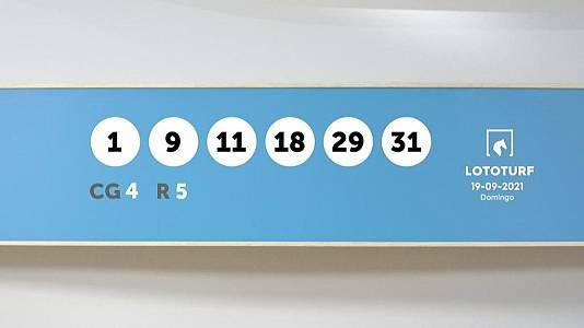 Sorteo de la Lotería Lototurf del 19/09/2021