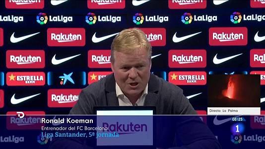 """Koeman: """"Con lo que hay, hemos sacado el máximo"""""""