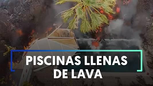 Piscinas sepultadas por la lava: esto es lo que ocurre cuando el magma llega al agua