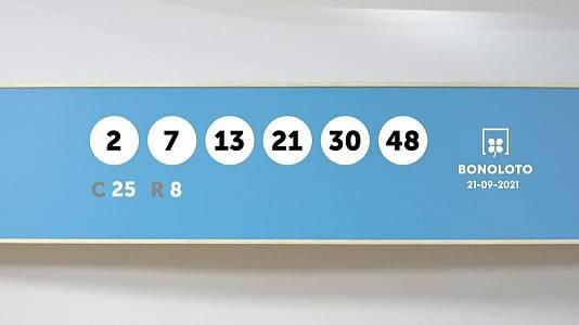 Sorteo de la Lotería Bonoloto y Euromillones del 21/09/2021