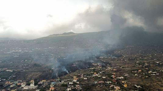La erupción del volcán de La Palma, desde el aire