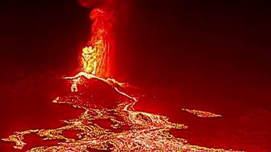 Drones para destripar el volcán de La Palma