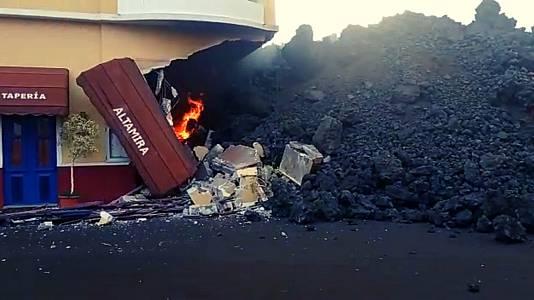 La lava del volcán de La Palma llega a Todoque