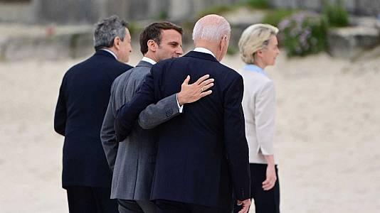 Biden y Macron acercan posturas tras la 'crisis de los submarinos' y se reunirán en octubre