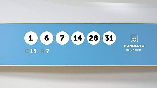 Sorteo de la Lotería Bonoloto del 23/09/2021