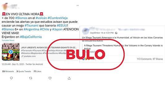 El bulo viral sobre el 'megatsunami' por la erupción en La Palma