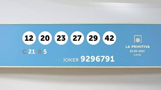 Sorteo de la Lotería Primitiva y Joker del 23/09/2021