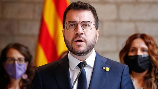 Aragonès exige la puesta en libertad de Puigdemont