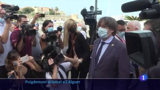 Puigdemont, aclamat a l'Alguer