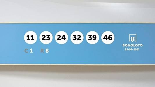 Sorteo de la Lotería Bonoloto del 25/09/2021