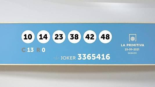 Sorteo de la Lotería Primitiva y Joker del 25/09/2021