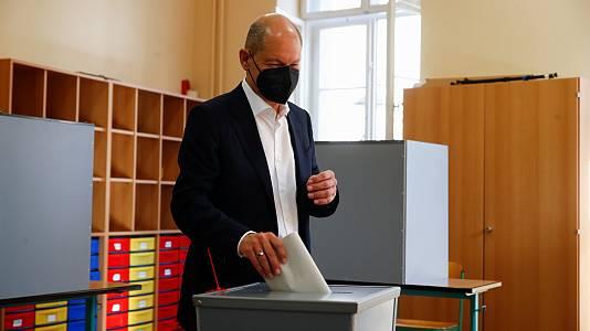 """Olaf Scholz (SPD) confía en """"un buen resultado y en encabezar un futuro gobierno"""""""