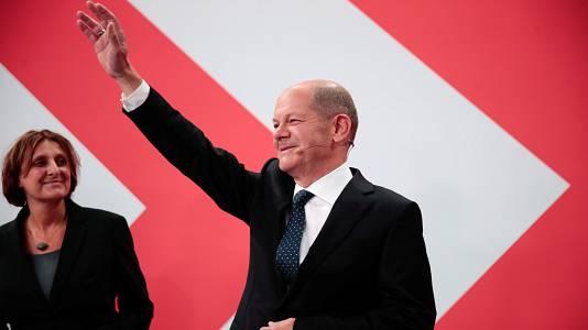 """Scholz: """"La noche será larga, pero muchos alemanes quieren que sea el próximo canciller"""""""