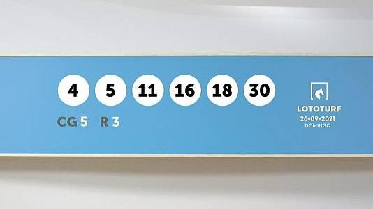 Sorteo de la Lotería Lototurf del 26/09/2021