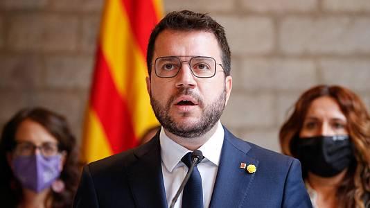 """Aragonès reafirma su compromiso con la mesa de diálogo: """"Es la mejor vía para resolver el conflicto"""""""