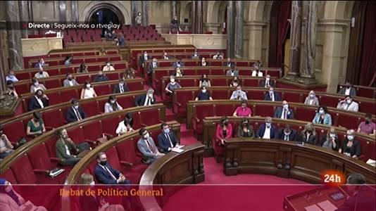 """L'oposició al Parlament furga en les divisions internes del Govern català, mentre socialistes i comuns veuen """"feble"""" l'executiu, però estenen la mà a Pere Aragonès"""