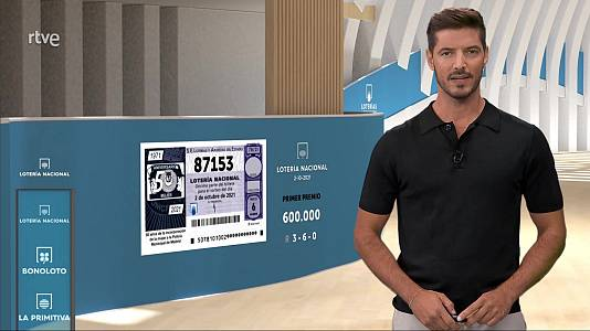 Sorteo de la Lotería Nacional del 02/10/2021