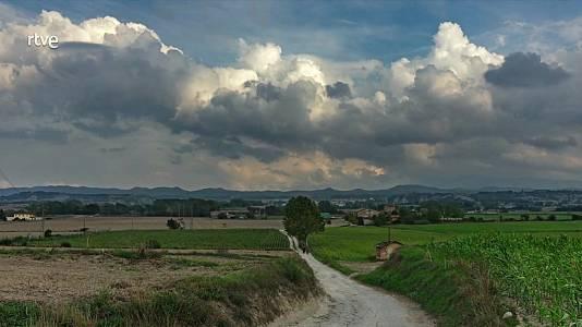 Intervalos de viento fuerte en el tercio noroeste peninsular, área Pirenaica, valle del Ebro, Ampurdán y mitad sur del litoral mediterráneo