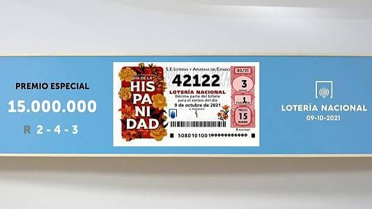 Sorteo de la Lotería Nacional del 09/10/2021