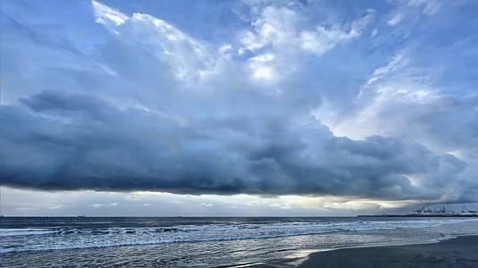 No se descarta algún chubasco localmente fuerte en el litoral de Castellón y Tarragona