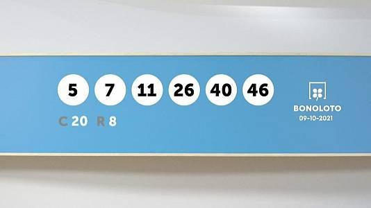Sorteo de la Lotería Bonoloto del 09/10/2021