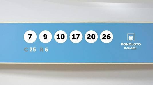 Sorteo de la Lotería Bonoloto del 11/10/2021