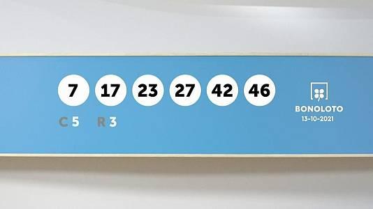 Sorteo de la Lotería Bonoloto del 13/10/2021