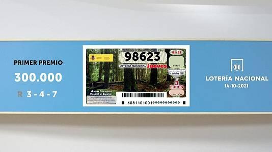 Sorteo de la Lotería Nacional del 14/10/2021