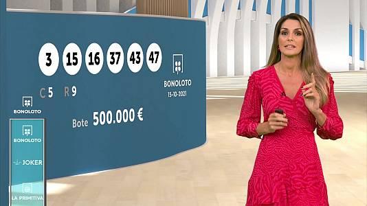 Sorteo de la Bonoloto y Euromillones del 15/10/2021