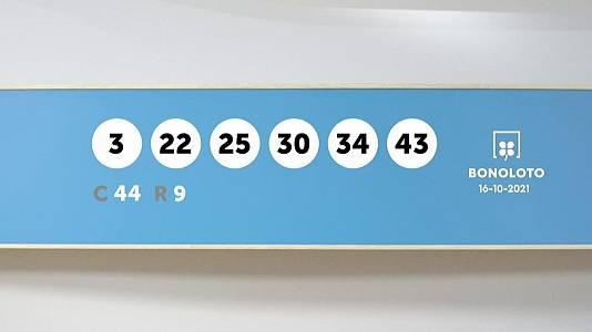 Sorteo de la Lotería Bonoloto del 16/10/2021