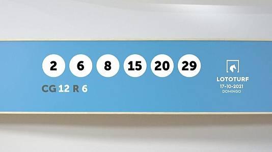 Sorteo de la Lotería Lototurf del 17/10/2021