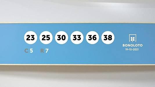 Sorteo de la Lotería Bonoloto y Euromillones del 19/10/2021
