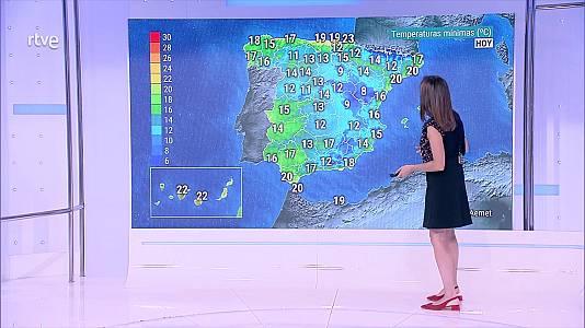 Precipitaciones localmente fuertes de madrugada en el oeste de Galicia