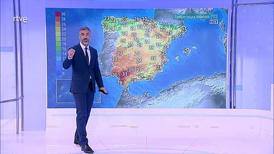Viento fuerte en el litoral del norte de Galicia y del Cantábrico. Intervalos de levante fuerte en el Estrecho