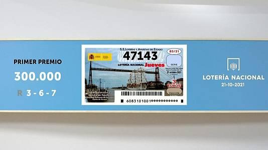 Sorteo de la Lotería Nacional del 21/10/2021