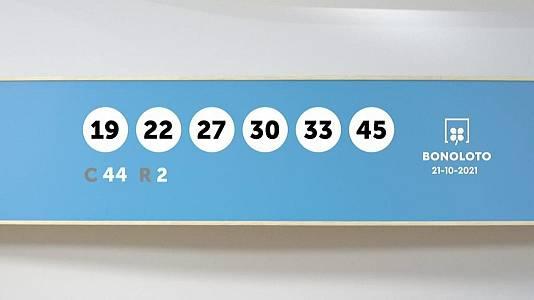 Sorteo de la Lotería Bonoloto del 21/10/2021