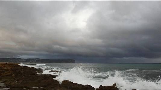 Chubascos y tormentas localmente fuertes en el sur de la comunidad Valenciana, sureste,Ibiza y Mallorca