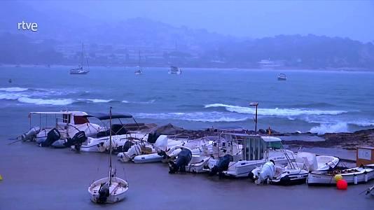 Intervalos de viento fuerte en los litorales del sureste peninsular y Baleares. Notable descenso de las temperaturas en el sureste peninsular