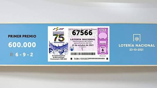 Sorteo de la Lotería Nacional del 23/10/2021