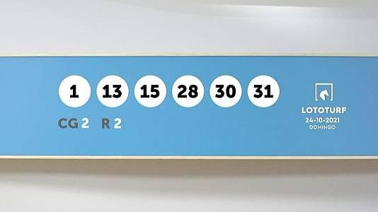 Sorteo de la Lotería Lototurf del 24/10/2021