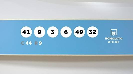 Sorteo de la Lotería Bonoloto del 25/10/2021