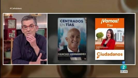 Mani contra Colau, Alberto Rodríguez i eslògans electorals