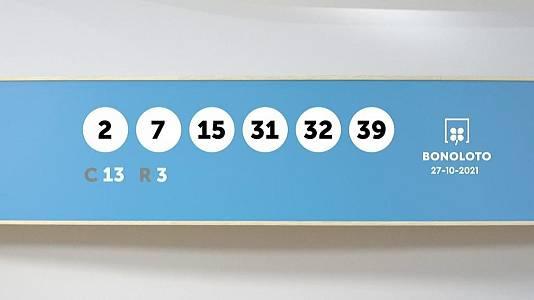 Sorteo de la Lotería Bonoloto del 27/10/2021