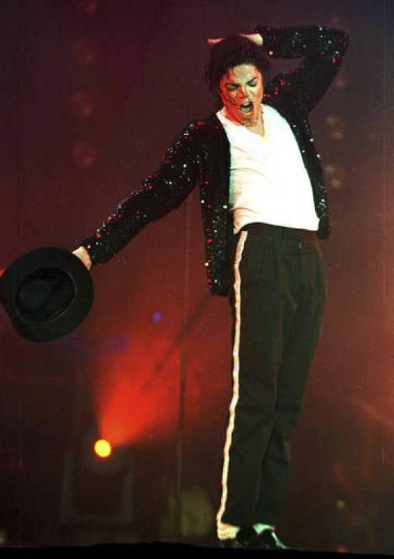 Michael Jackson, durante una actuación en el parque Jurundong, en Brunei.