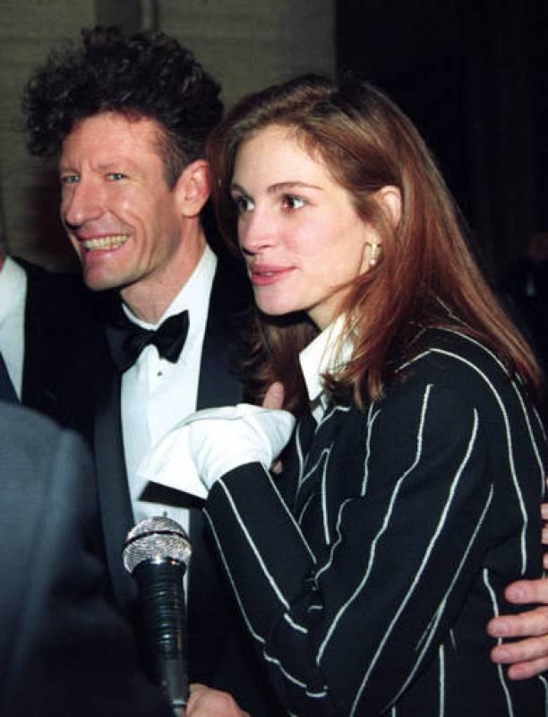 Lyle Lovett y Julia Roberts, en 1993, cuando eran marido y mujer
