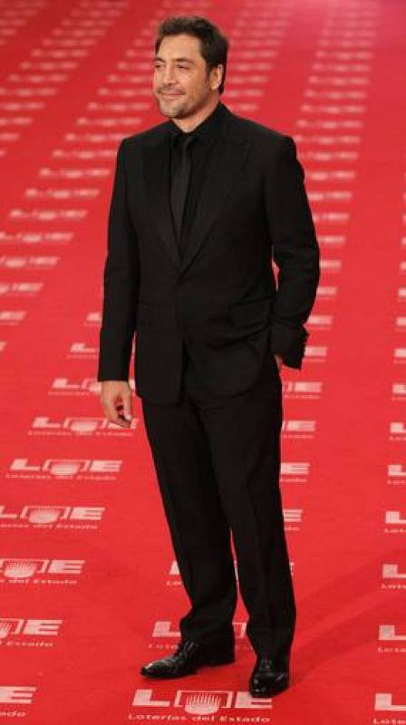 Spanish actor Bardem poses on the red carpet before the Spanish Film Academy's Goya awards ceremony in Madrid