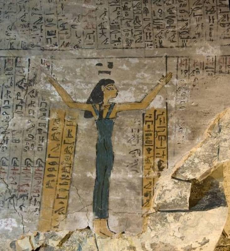 Representación de la diosa Nut en la cámara funeraria de Djehuty
